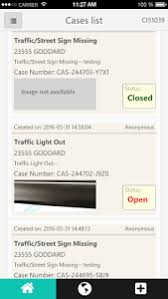 Case List on iCare Taylor App