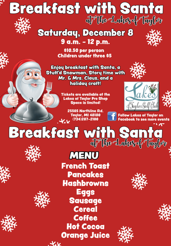 Breakfast With Santa Flyer Website